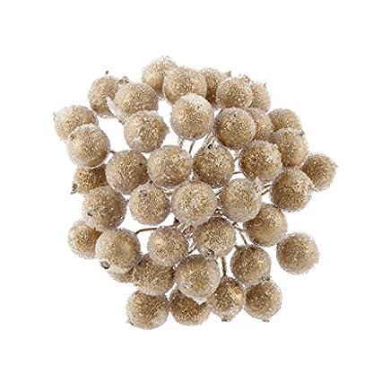 200pcs-Mini-Weihnachten-Dekoration-Knstliche-Frucht-Beere-Holly-Blumen-Gold
