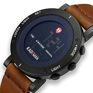 Herren-Uhren-Mnner-Militr-Digital-Sport-Wasserdicht-Groe-LED-Braun-Leder-Armbanduhr-Mann-Multifunktions-Wecker-Datum-Kalender-Digitaluhr