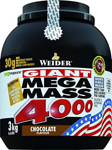 Weider, Mega Mass 4000, Schoko, 1er Pack (1 x 3 kg)