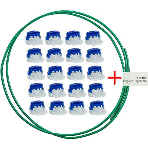 LoHaG-20-Kabelverbinder-in-praktischer-Box-1m-Begrenzungskabel–Reparaturset–Ideal-fr-Rasenmher-Mhroboter-Rasenroboter-Kabel-Verbinder–Kabelklemmen-Anschlussklemmen-wasserdicht