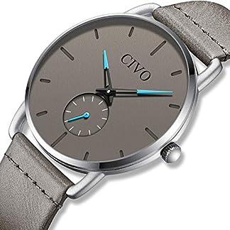 CIVO-Herren-Uhren-Manner-Wasserdicht-Schwarz-Leder-Armbanduhr-Mann-Dnne-Mode-Luxus-Coole-Minimalistische-Business-Analoge-Quarzuhren-fr-Herren-Jungen