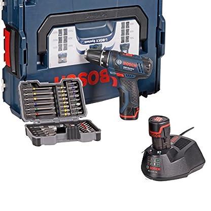 Bosch-Akkubohrschrauber-Set-GSR-108-2-LI-Professional-blau-L-BOXX-2x-Akku-13-Ah-Bitset-43-tlg