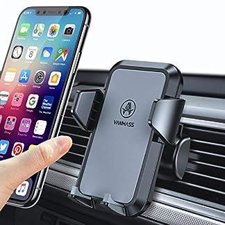 VANMASS-Handyhalter-frs-Auto-Handyhalterung-Lftung-Kfz-Handy-Halterung-2-Aktualisierte-Lftungsclips-umfassend-Silikon-Schutz-Smartphone-Handyhalter-auto-360fr-iPhone-Samsung-Galaxy-Huawei-Mate-LG