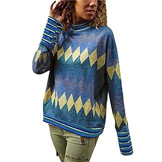 JYJM–Mode-Frauen-Langarm-Geometric-Print-Pullover-Rollkragen-Bluse-T-Shirt-Top-Damen-kostm-Business-Damen-Sweatshirt-Weit-T-Shirt-Tunika-Tops-Pullover-Damen-Kurzarm-Shirt-Sexy