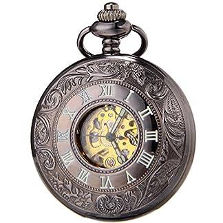 SEWOR-Classic-Skelett-Gold-Uhrwerk-Automatik-Mechanische-selbst-wind-Taschenuhr-