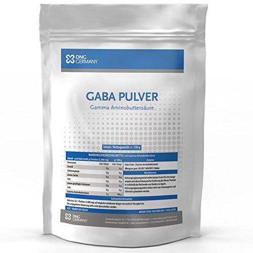GABA (150g 100% Ohne Zusätze) 50 Portionen! • Reine Gamma Amino Buttersäure Pulver| HGH – Wachstumshormon-Ausschüttung | Muskelaufbau, Regeneration | In bester Premium Qualität zum Besten Preis!