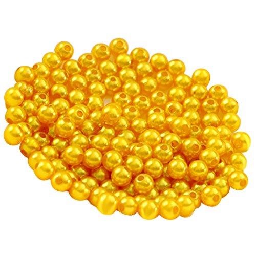 Homyl 500er Set Kunstperlen 6mm Perlen mit Loch Wachsperlen Dekoperlen Bastelperlen Zwischenperlen zum Basteln dekorieren verzieren