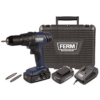 FERM-Professional-Akku-Bohrmaschine-Akku-Bohrmaschine-18V-Schraubendreher-20Ah-mit-LED-Arbeitsscheinwerfer-und-praktischem-Aufbewahrungskoffer