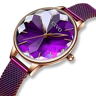 CIVO-Damen-Uhren-Wasserdicht-Silm-Minimalistisch-Rose-Gold-Damenuhr-mit-Edelstahl-Mesh-Armband-Mode-Kleid-Elegant-Luxus-Beilufig-Quarzuhr-fr-Frau-Lady-Teenager-Mdchen