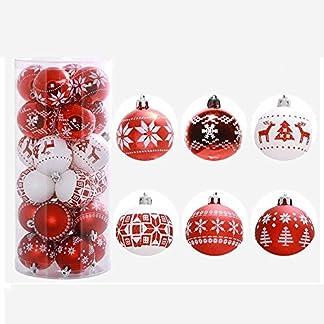 FeiliandaJJ-24PCS-6CM-Weihnachtskugel-Boxed-Gemalt-Kugel-Weihnachten-Deko-Anhnger-Christbaumkugeln-fr-Weihnachtsbaum-Party-Home-Hochzeit