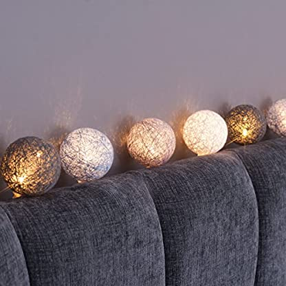 Qbis-10-Baumwolle-Ball-batteriebetrieben-LED-Lichterkette-mit-optional-Timer