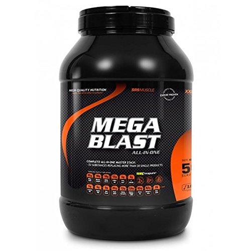 SRS Muscle – Mega Blast XXL, 3.800 g, Pfirsich-Eistee | Complete All-in-one Master Stack | ersetzt über 20 Einzelprodukte | deutsche Premiumqualität