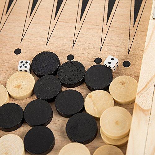 Littlegrasseu-Schachspiel-Schachbrett-Holz-mit-Figuren-3-in-1-Einklappbar-Deluxe-Schach-fr-Kinder-ab-6-Jahre-Faltbar-mit-Aufbewahrungs-Einfach-zu-Tragen-und-Bewahren