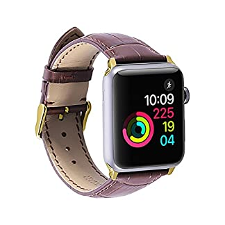 Apple-Watch-Alligator-Grain-Strap-echtes-Kalbsleder-42MM-Band-fr-iWatch-Serie-1-2-3-Apple-Watchband