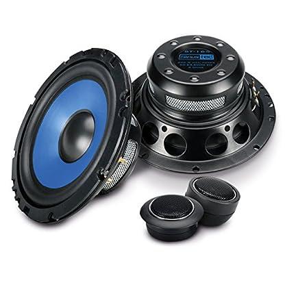 Sinustec-2-Wege-Komponenten-Lautsprecherboxen-rund-in-16-cm-Einbaugroe-fur-Pkw