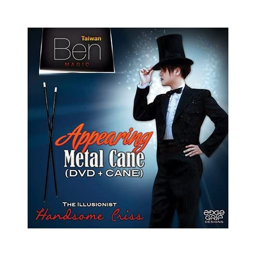 Appearing-Metal-Cane-Black-by-Taiwan-Ben-Magic-Trick