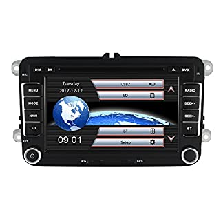Yingly-7-Zoll-2-Din-Autoradio-fr-VW-Golf-Skoda-Seat-mit-Wince-System-DVD-Player-GPS-Navigation-FM-AM-Radio-Bluetooth-USB-SD-untersttzt-Park-Kamera-Lenkrad-Bedienung-1080P-Video-8GB-Kartenmaterial