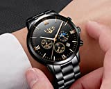 Herren-Uhren-Sport-wasserdicht-Analog-Quarzuhr-Herren-Chronograph-Datum-Lige-Luxus-Marke-Kleid-Armbanduhr-Man-Edelstahl-schwarz-Uhr