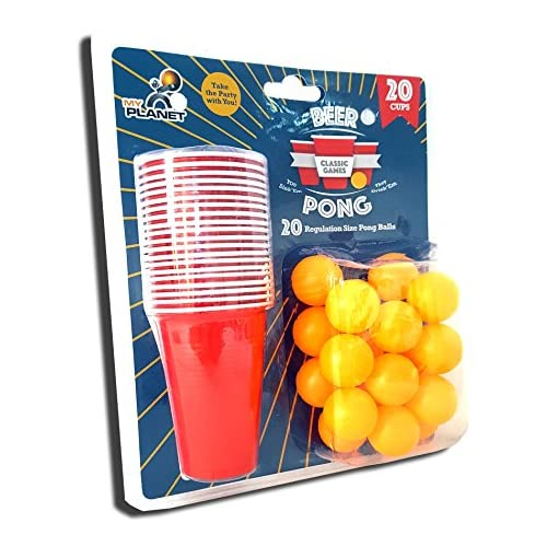 My-Planet-Ultimate-40-teiliges-Beer-Pong-Party-Trinkspiel-inkl-20-x-Blle-20-x-rot-Cups