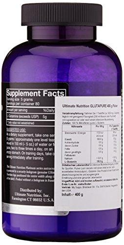 Ultimate Nutrition Glutapure (L-Glutamine USP), 1er Pack (1 x 400 g)
