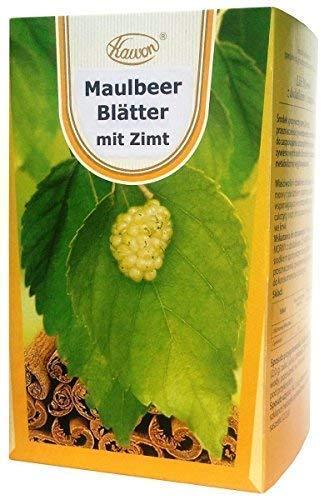 Maulbeerblätter Tee mit Zimt, 60 x 2g, 120g – für niedrigen Zuckerspiegel, bremst heißhunger, maulbeeren