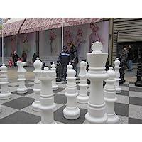 Ubergames-Mega-Giga-Schach-Figuren-94-cm-aus-hochwertigem-wetterbestndigem-UV-bestndigem-Kunststoff-Freiland-Schach-figuren-gross