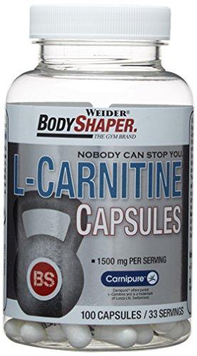 Weider, L-Carnitine Capsules, Neutral, 1er Pack (1x 100 Kapseln)