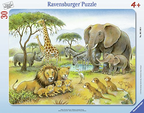 Ravensburger-Puzzle-06146-Afrikas-Tierwelt