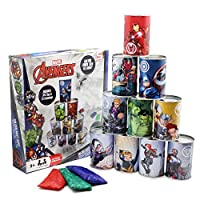 Marvel-Avengers-Dosenwerfen-fr-Kinder-Traditionelles-Spielzeug-fr-drinnen-drauen-Fr-Kleinkinder-Erwachsene-Ideal-als-Geschenk-fr-Partys-10-Blechdosen-3-Wurfscke
