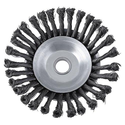 Sweepid-Unkrautbrste-Drehgelenk-Twist-Knot-Stahldraht-Rad-Pinsel-Disc-254x200mm-Landschaftsbau-Schneiden-Bewsserung-Maschinen-Mithelfer