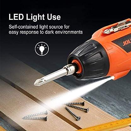 Zeroall-Akkuschrauber-Klein-42V-600mAh-USB-Wiederaufladbar-Akkuschrauber-Set-mit-LED-Licht-Drehbarer-Griff-fr-Einfaches-Heimwerken
