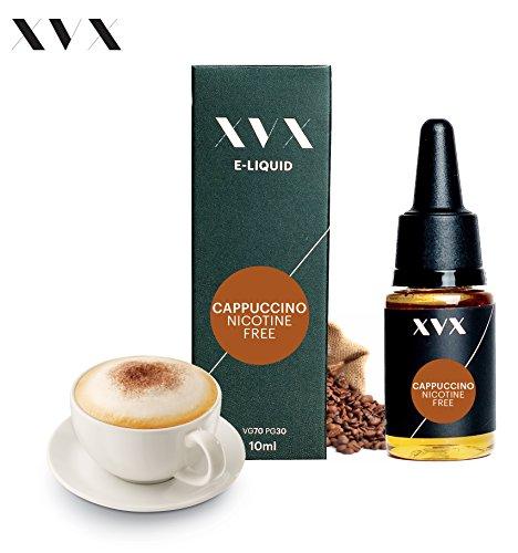 XVX E-Liquid  Cappuccino Geschmack  Elektronisches Liquid Für E-Zigarette  Elektronische Shisha Liquid  10ml Flasche  Nadelspitze  Präzise Befllung  Wähle Deinen Lifestyle  Neu Für 2016  Digitaler Rauch  Nikotinfrei  Tabakfrei