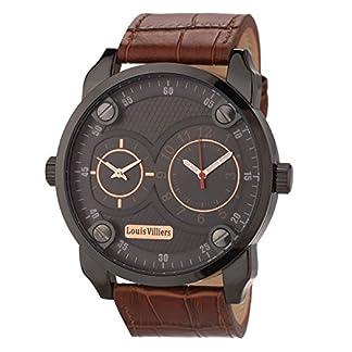 Louis-Villiers-Unisex-Analog-Quarz-Uhr-mit-Stoff-Armband-AG3736-12