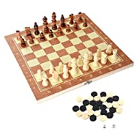 Alomejor-Holz-Schachspiel-Set-Deluxe-Brettspiel-Chess-Set-Schachkassette-fr-Kinder