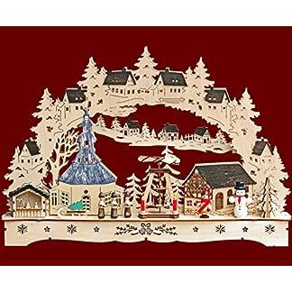 yanka-style-LED-Schwibbogen-Lichterbogen-Leuchter-Seiffen-mit-Pyramide-NaturFarbig-aus-Holz-ca-43-cm-Breit-Trafobetrieb-Mglich-Weihnachten-Advent-Geschenk-Dekoration-84072