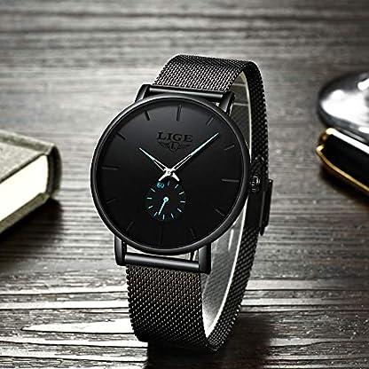 LIGE-Herren-Armbanduhr-minimalistisch-luxurises-Edelstahlband-fr-Herren-Business-Kleid-wasserdicht-Casual-Quarzuhr-fr-Herren-Chronograph