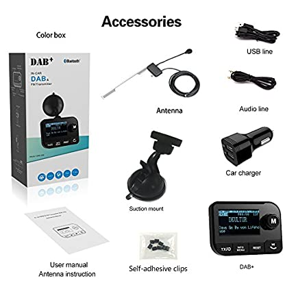 Blufree-Bluetooth-FM-Transmitter-Car-Radio-Adapter-Bluetooth-MP3-Music-Receiver-Handsfree-Car-Kits-Bluetooth-Transmitter-for-Car-with-USB-ChargerSD-CardUSB-DiskVoltage-DetectionNoise-Reduction