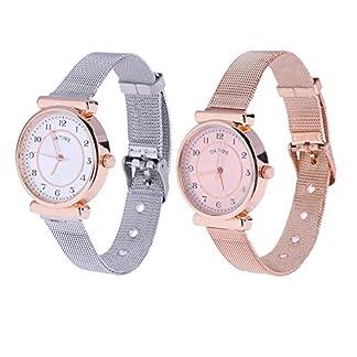 Domybest-Mode-Damen-dnne-Legierungs-Band-analoge-Quarz-Armbanduhren