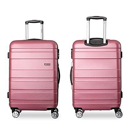 Flieks-Kofferset-Hartschalen-3-teilig-Reisekoffer-3-TLG-Zwillingsrollen-Trolleys-mit-Zahlenschloss-Gepck-Sets-mit-4-Doppel-Rollen-Set-XL-L-M