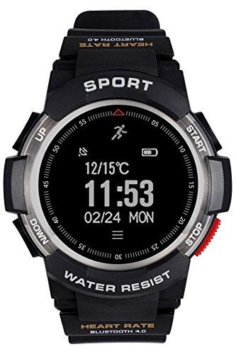 58f71f66e45b ▻ Günstig Herren Fitness Tracker Herzfrequenz Bluetooth Smart Watch  Wasserdicht Military Stoppuhr Sport digitale Armbanduhr von Loluka Uhren -  Deals