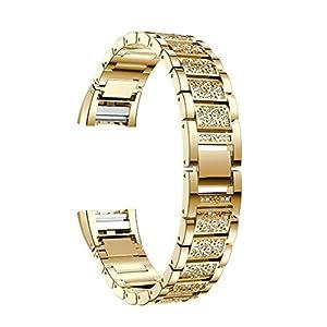 Armband-fr-Fitbit-Charge-2-Schwarz-Edelstahl-Ersatzarmband-Uhrenarmband-Smartwatch-Armbnder-Fitness-Sportarmband-mit-Metallschliee-Band-Links-fr-Fitbit-Charge-2