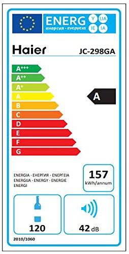Haier-JC-298GA-Weinkhlschrank-128-cm-Hhe-LED-Display-zur-Temperatureinstellung-Temperaturalarm