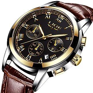 Herren-Uhren-Fashion-Business-Leder-Quarz-Analoge-Uhr-Herren-Casual-Sport-Wasserdichte-Uhr-LIGE-Luxusmarke-Schwarz-Klassisch-Date-Armbanduhr