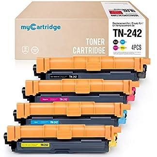 MyCartridge-4-Kompatibel-Brother-TN-242-Tonerpatronen-fr-Brother-HL-3152CDW-3142CDW-3172CDW-DCP-9022CDW-MFC-9332CDW-9342CDW-SchwarzCyanMagentaGelb