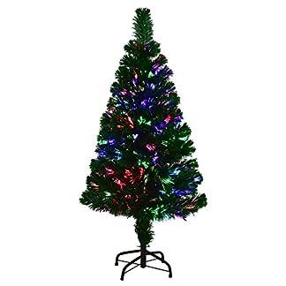 COSTWAY-Weihnachtsbaum-Knstlicher-Tannenbaum-Christbaum-beleuchtet-90120150180cm-Grn-mit-Glasfaser-Farbwechsler