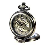 TREEWETO-taschenuhr-mit-kette-herren-bronze-rmische-ziffern-retro-uhr-taschenuhren-mechanisch-pocket-watch