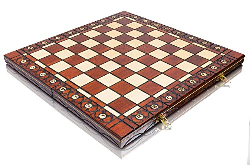Top-Qualitt-16-aus-Holz-Schachbrett-Falten-Schachbrett-handgefertigte-40-x-40cm