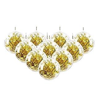 Skraft-10St-Transparente-Kugel-Weihnachtskugeln-Kunststoff-Bad-Bombe-Form-Haus-Bro-Urlaub-Party-Dekoration-Acrylkugeln-zum-Befllen-mit-Aufhngese