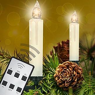 Homelux-10-LED-Weihnachtskerzen-Christbaumkerzen-Weihnachtsbeleuchtung-Warmwei-Fernbedienung-Kabellos-10203040er-Set-DEUTSCHER-HNDLER