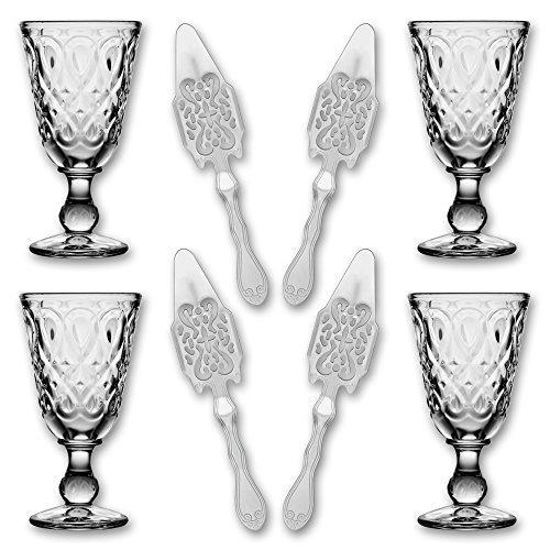 4x-La-Rochere-Absinth-Glas-Lyonnais-230-ml-4x-Absinth-Lffel-Antique
